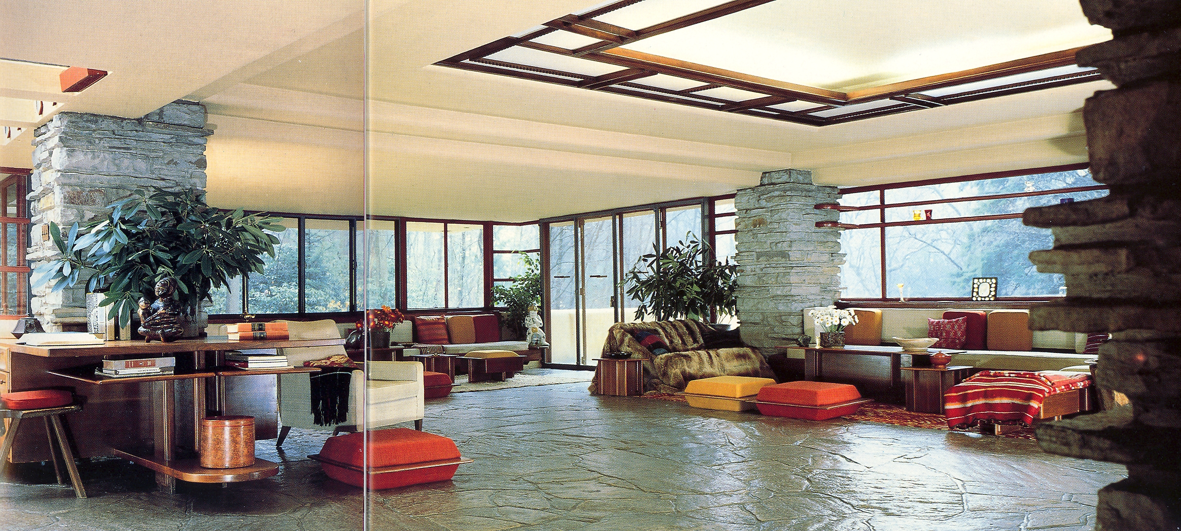 Falling Water House Interior The Image