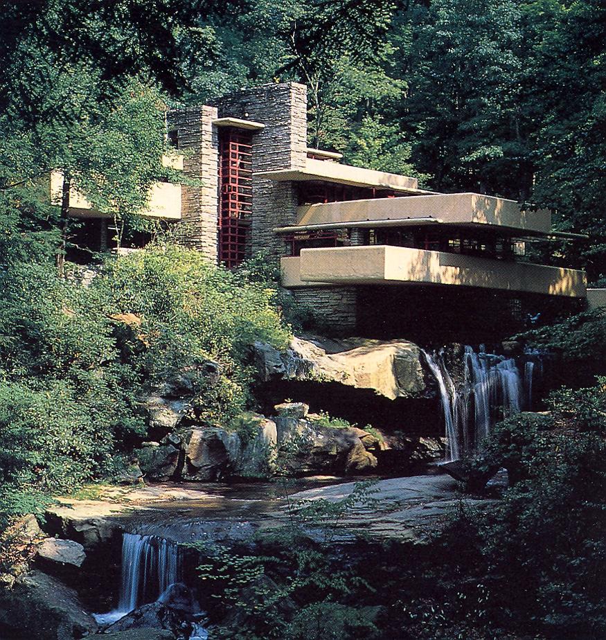 big house tour fallingwater. Black Bedroom Furniture Sets. Home Design Ideas