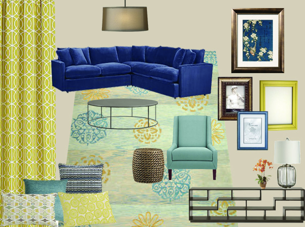 What You Cant See In This Mood Board Is That Family Room Already Has Plenty Of Storage Floor To Ceiling Built Wood Bookcases Line An Entire Wall