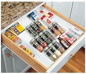 in drawer spice rack plans