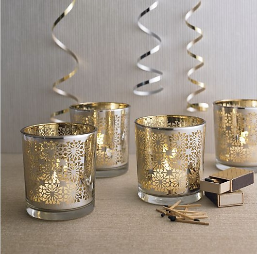 Free giveaway december decor for Christmas pillar candle holders